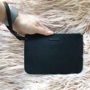 Rebecca Minkoff Black Leather Wristlet